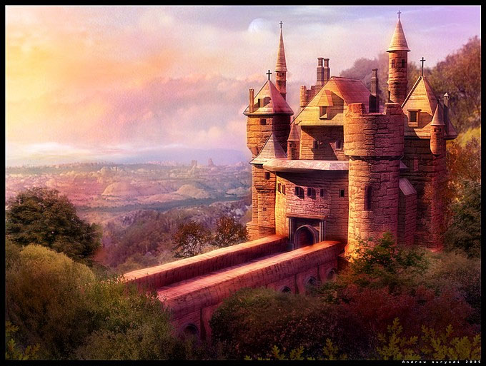 Сказанное место The_castle_by_Androgs