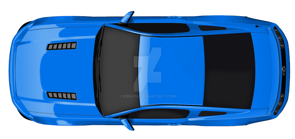 ford mustang top view. ford mustang \u002713-\u002714 top view by ronvds - deviantart