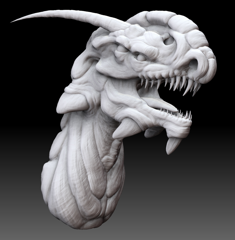 Zbrush dragon by Kirinov