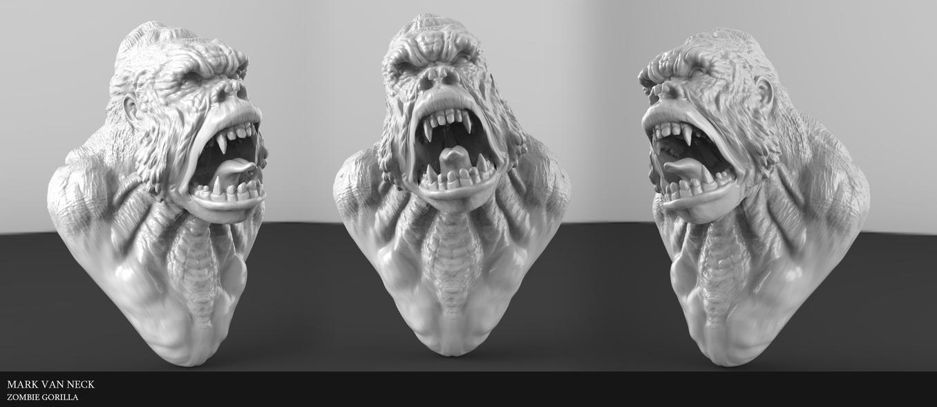 Zombie Gorilla by Kirinov