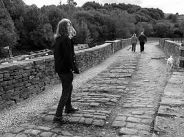 Sam on cobblestones