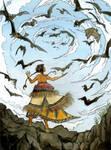 Leutogi And The Bats by SaxtorphArt