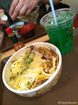 Gyudon and melon fanta by YaminiZouren-Photos