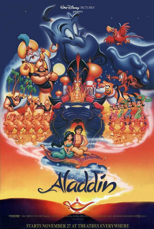 1992 Movie Poster by WDisneyRP-Aladdin