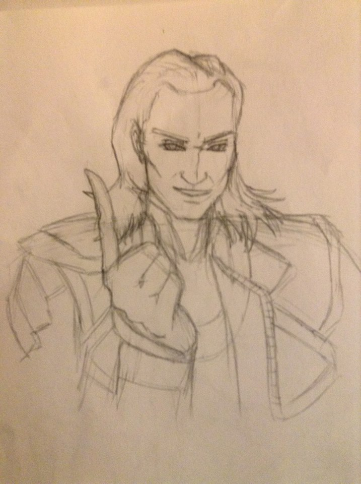Loki Sketch by EternallyMJ