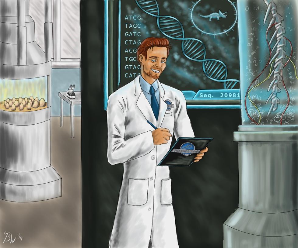 Jurassic World Geneticist played by Tom Hiddleston by EternallyMJ
