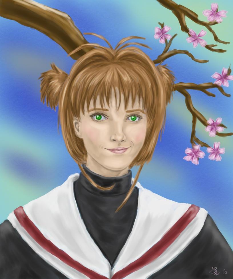 Sakura Kinomoto as modeled after Emma Watson by EternallyMJ
