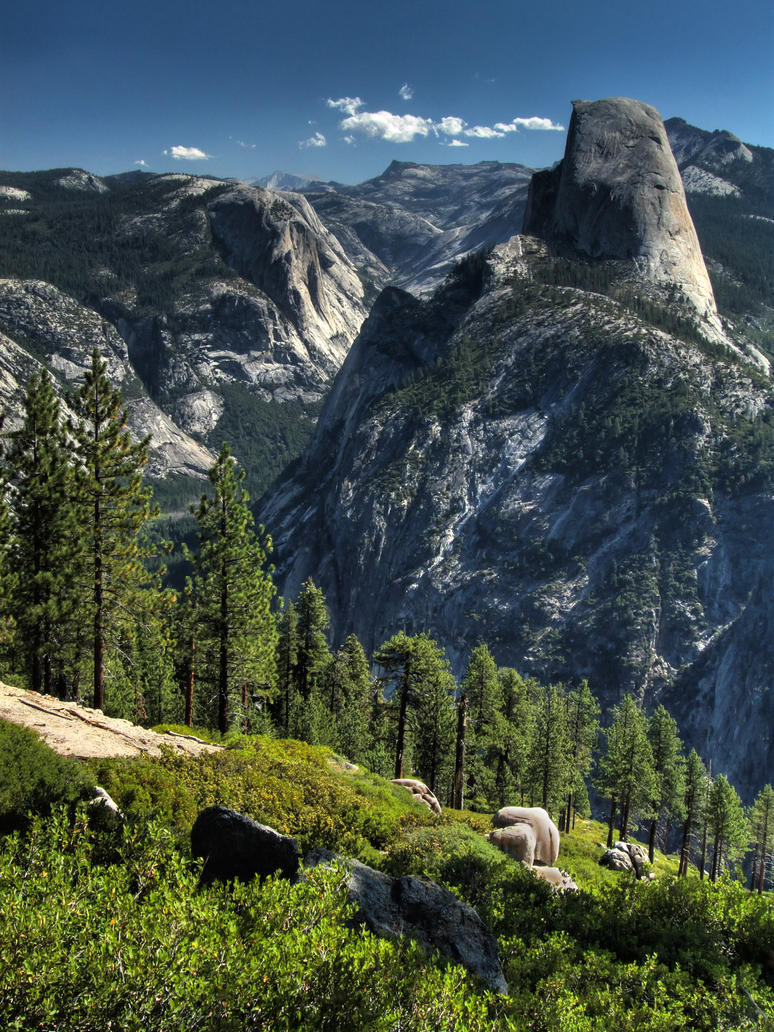 View from Glacier Point by papatheo