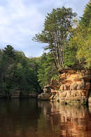 Sandstone Bluff on the River by papatheo