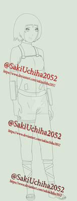 Saki Full Body Lineart