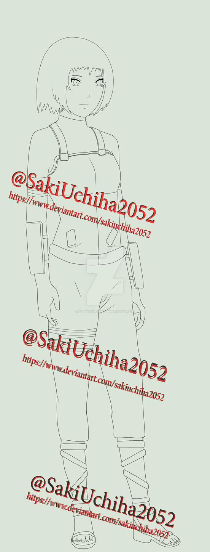 Saki Full Body Lineart by SakiUchiha2052