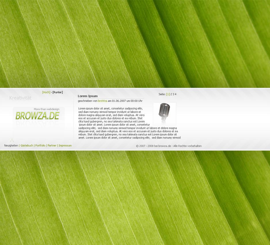 Green Portfolio Design by browza