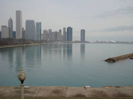 Distant Navy Pier by itsayskeds