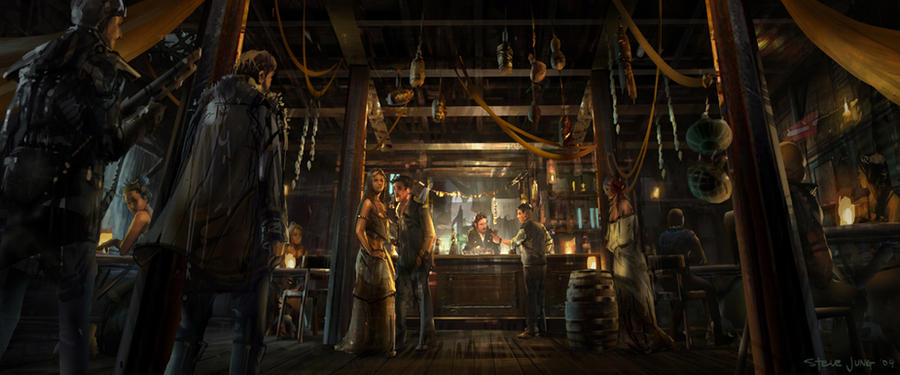 Pirate Town Pub by waza8i