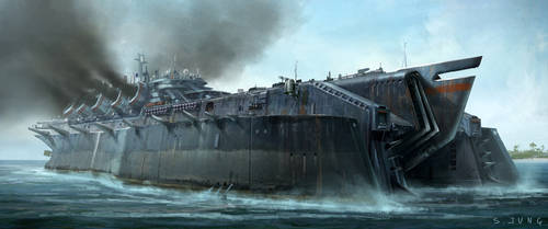 Carrier Battleship by waza8i