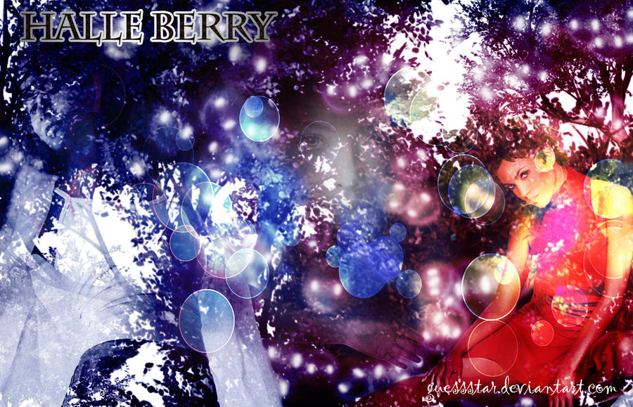 Designed Wallpaper of Halle Berry by GuessStar