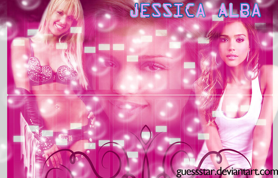 Designed Wallpaper for Jessica Alba by GuessStar
