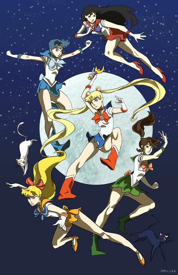Sailor Scouts by fooshigi