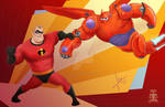 Mr. Incredible vs baymax