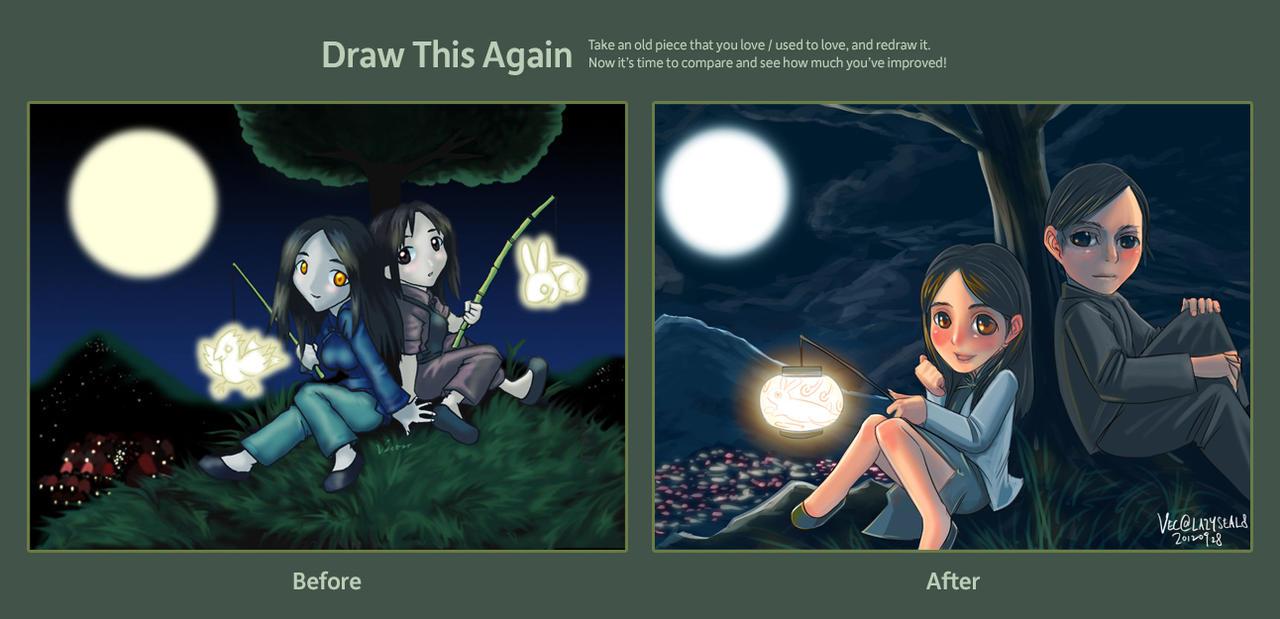 Mid-Autumn Festival Draw Again by lazyseal8