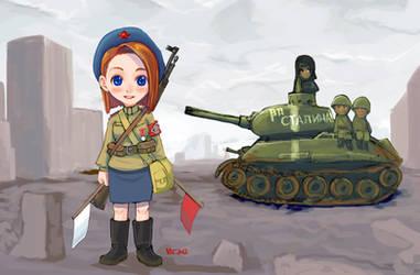 Soviet Female traffic regulator in WWII by lazyseal8
