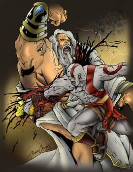 Kratos VS Zeus - Slash