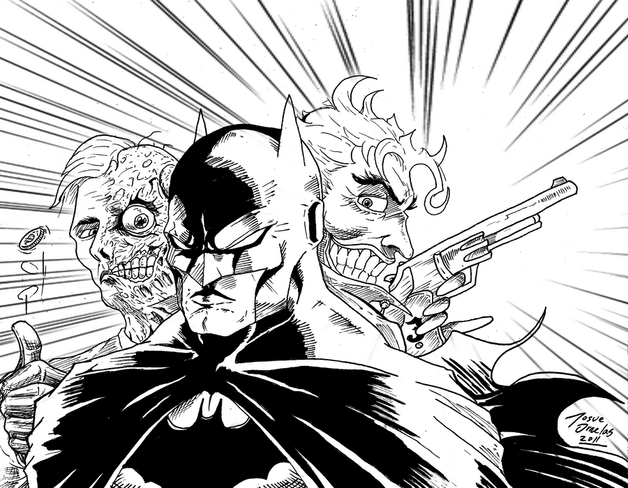 batman face coloring page - two face comic free colouring pages