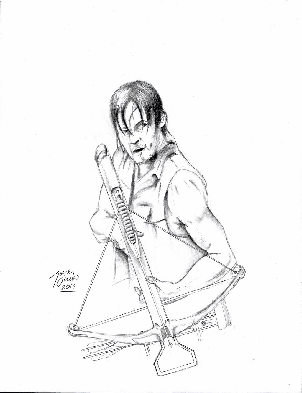Daryl dixon by big d artiz on deviantart for The walking dead coloring pages