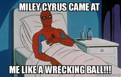 Miley Cyrus Hit Spiderman by 100PERCENTFAN