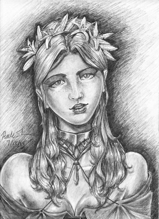 Dalgunna Portrait by Farallan