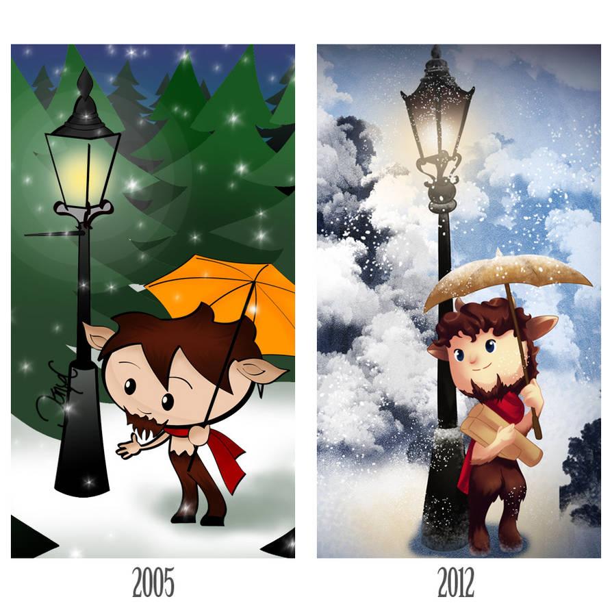 Mr. Tumnus 2005 vs 2012 by Thiefoworld