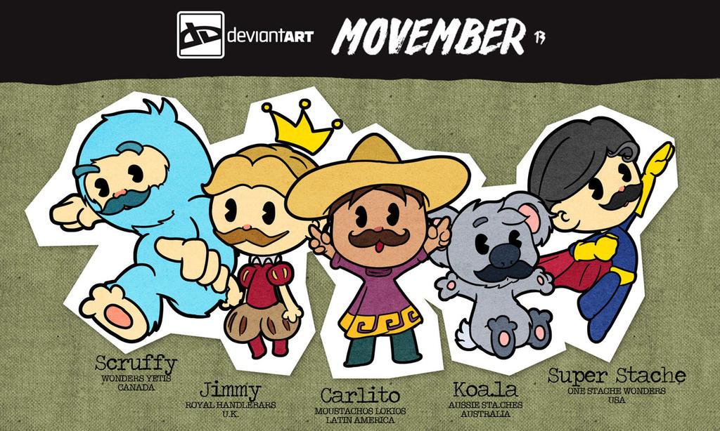 Movember Mascots by Thiefoworld