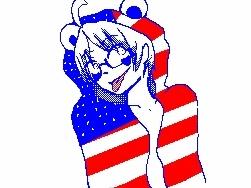 Panda Hero - America by SceneRaveGirl