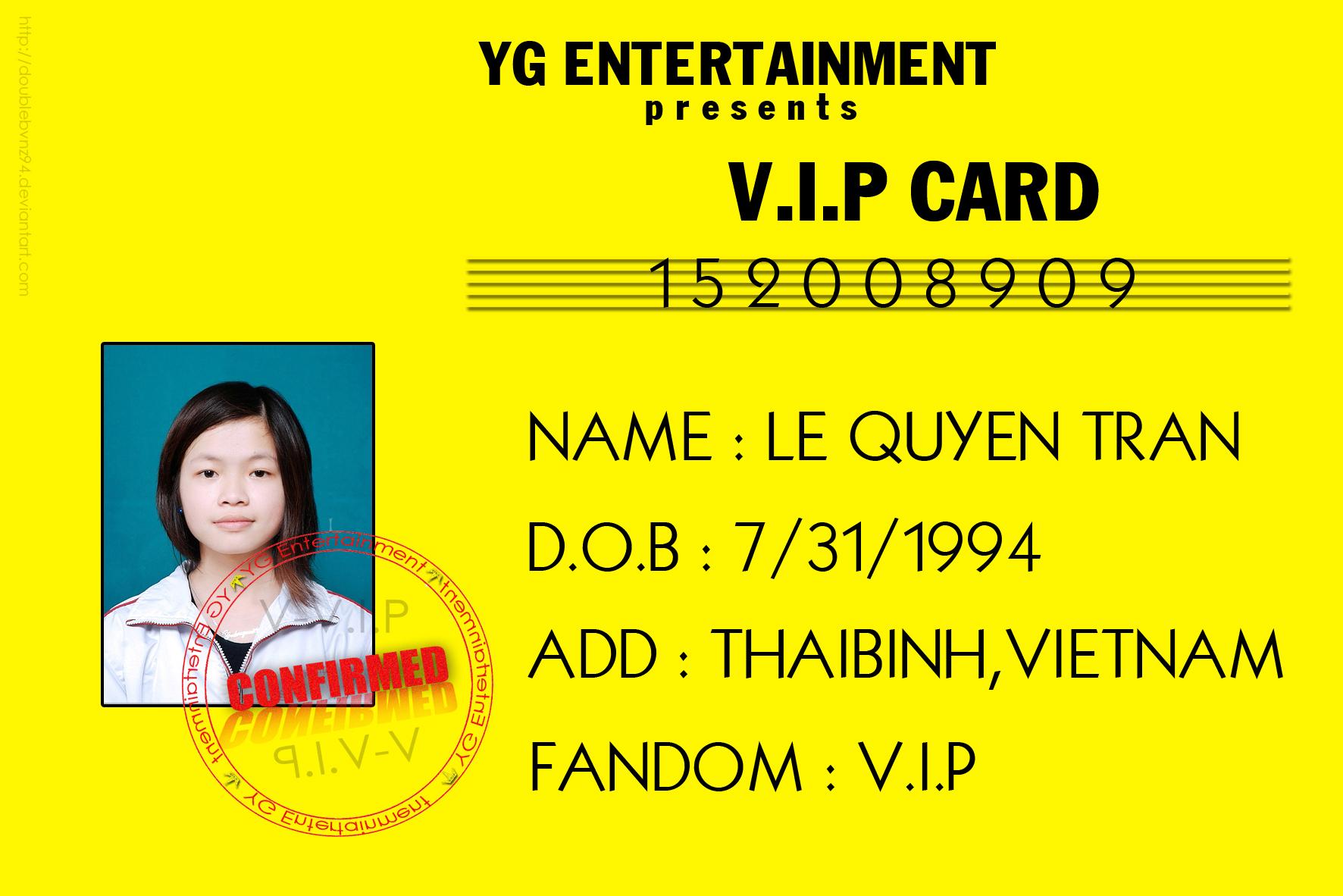 Vip Card Bigbang By