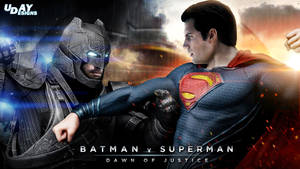 Batman v Superman - Day vs Night HD wallpaper