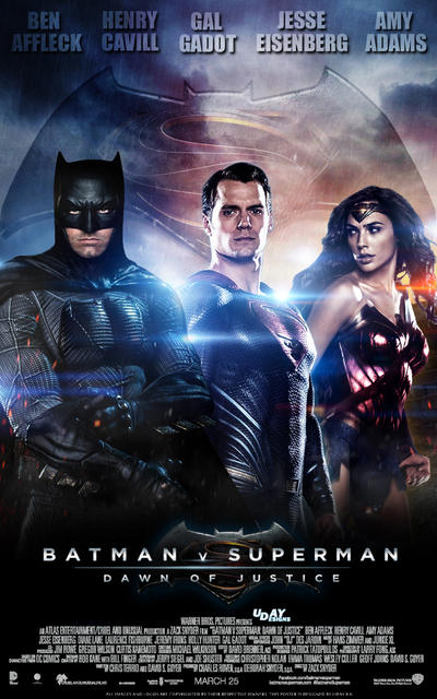 Batman V Superman Dawn Of Justice Final Poster By Iamuday
