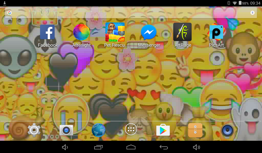 Screenshot Of Cute Emoji Wallpaper For Tablet By X Queen Darkness