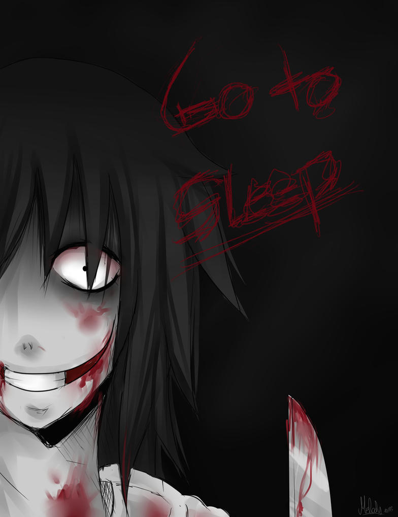 GO TO SLEEP - Jeff the Killer #Fanart by Melo-Cake