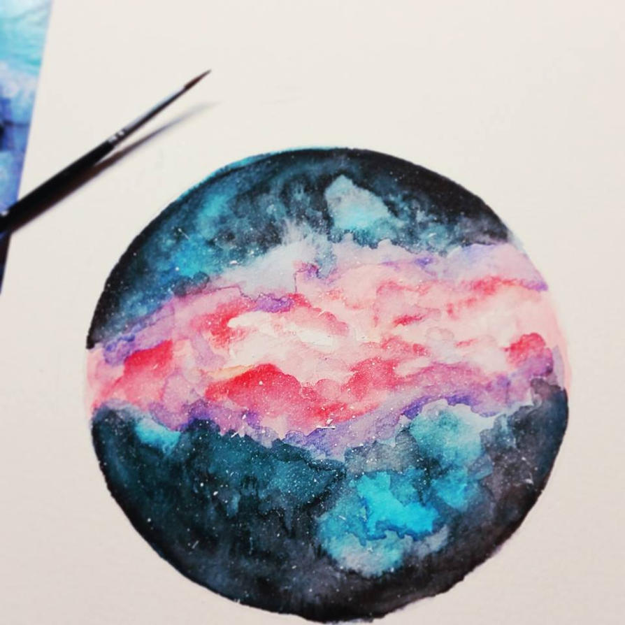 Little Galaxy [Watercolor] by Melo-Cake on DeviantArt
