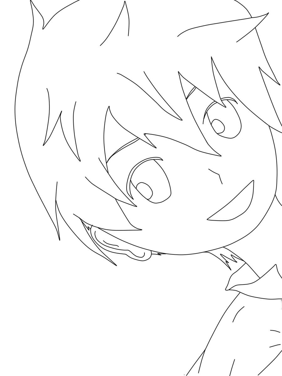 Lineart Anime Boy : Anime boy chibi by brokeninthedark on deviantart