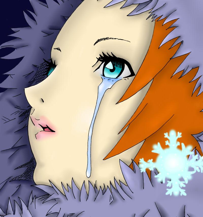 Anime girl crying by BrokenInTheDark on DeviantArt