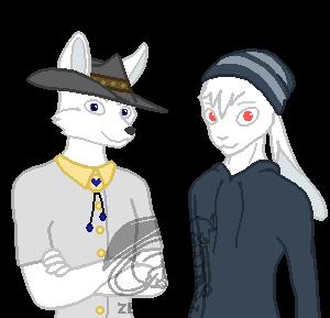 (Commission) Wabbit and Fox by Zero-Zivan