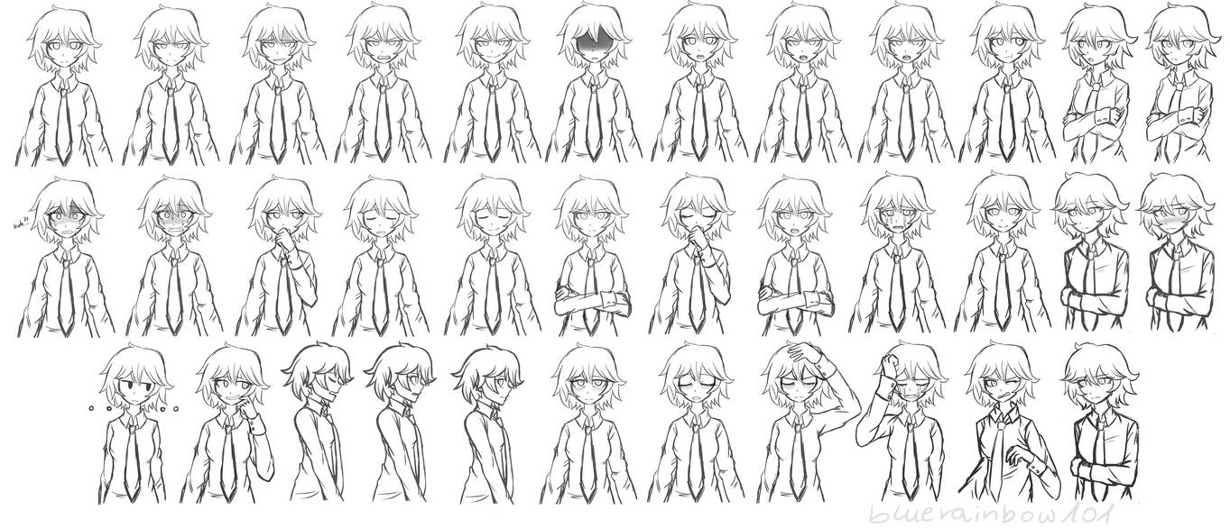 Emile - Sprite Sheet (Finished) by BlueRainbow101 on DeviantArt