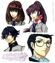 Persona 1 - P5 Style by BlueRainbow101
