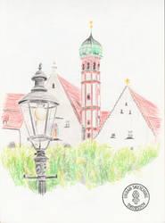 Urban Sketching - Elias Holl Square (1)