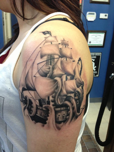 Ship Tattoo 1 Session By Eris09 On Deviantart