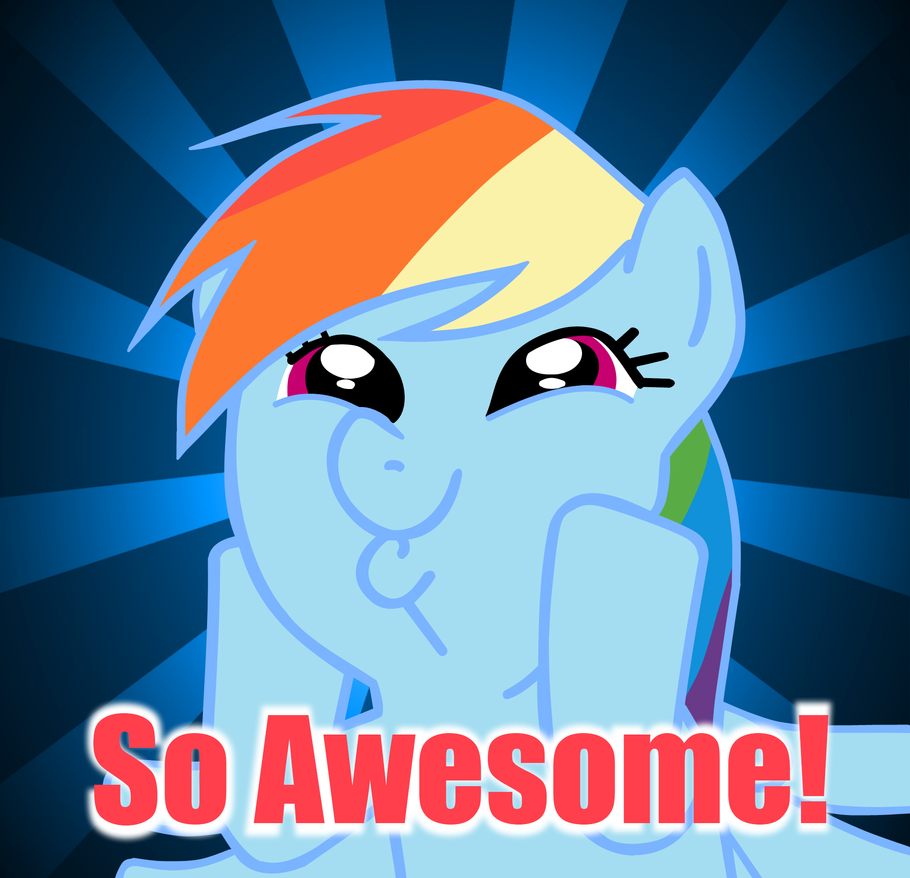 Spelltacular! [Apples to Apples meets Dungeons and Dragons]  - Page 2 So_awesome_rainbow_dash_by_misterbrony-d4da6jj