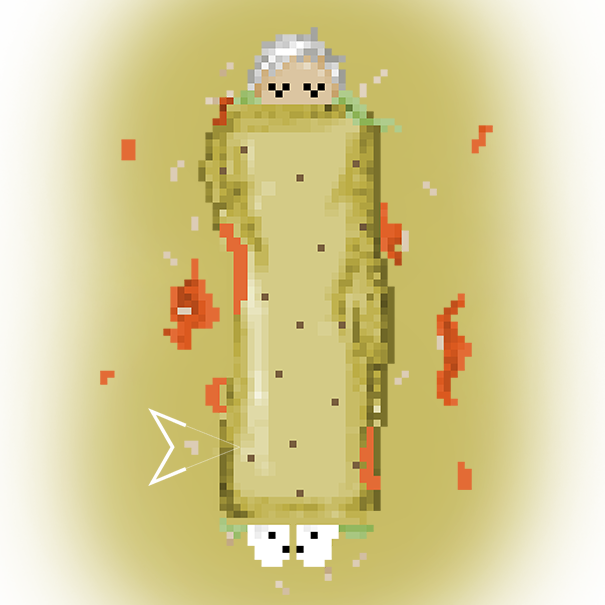 Me in a burrito by Emperaptor