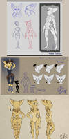 Ratchet's Mom - Character Design Dump by Farorest