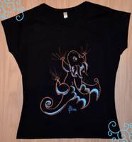 Hang On Dragon T-shirt by Dragons-Garden